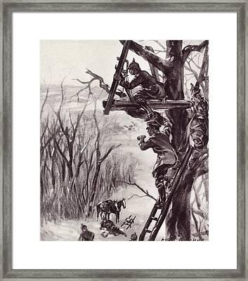 A German Artillery Observation Post Framed Print by Vintage Design Pics