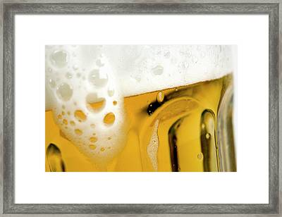 A Glass Of Beer Framed Print by Caspar Benson