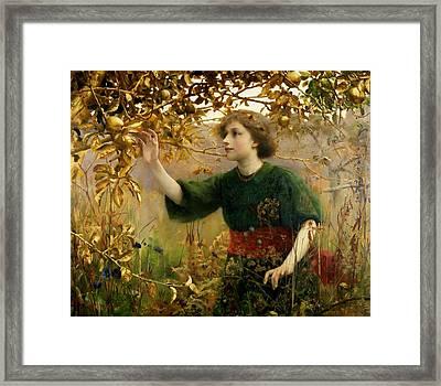 A Golden Dream Framed Print by Thomas Cooper Gotch