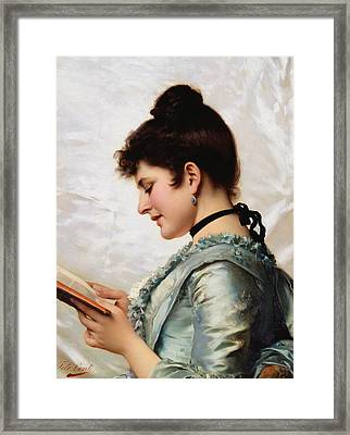 A Good Book Framed Print by Tito Conti