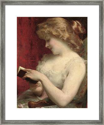 A Good Read Framed Print by Etienne Adolphe Piot