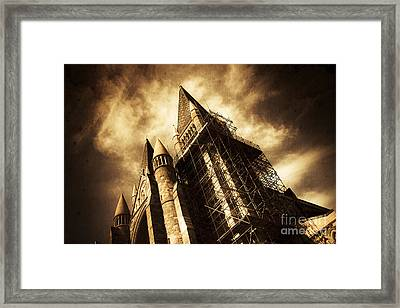 A Gothic Construction Framed Print by Jorgo Photography - Wall Art Gallery