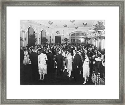 A Grand Dinner Party Framed Print by Underwood Archives