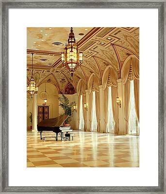 A Grand Piano Framed Print by Rich Franco