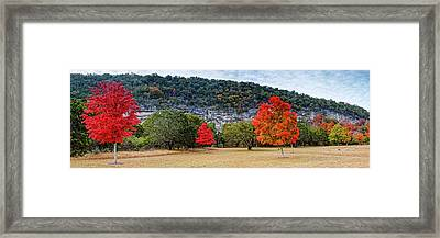 A Great Day For A Picnic Lost Maples - Fall Foliage - Texas Hill Country  Framed Print by Silvio Ligutti