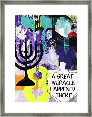 A Great Miracle- Art By Linda Woods Framed Print by Linda Woods