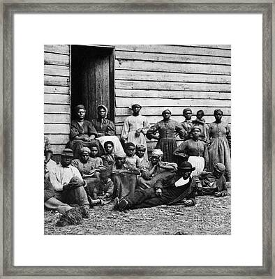 A Group Of Slaves Framed Print by Photo Researchers