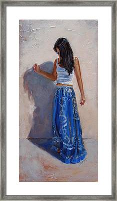 A Harmony Of Blues Framed Print by Laura Lee Zanghetti
