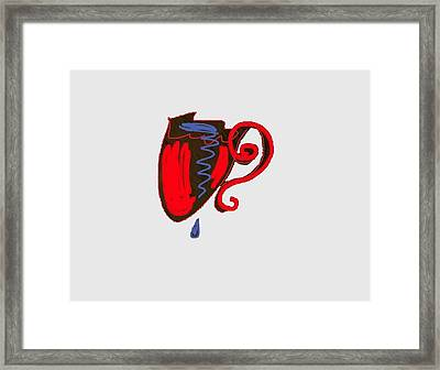 A Heart Filled With Tears Framed Print by Sherlene Mats