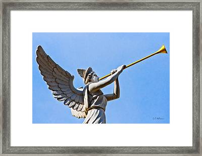 A Herald Sounds Off Framed Print by Christopher Holmes