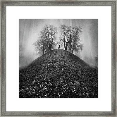 A Hope For The Eternal Presence Of Distant Places Framed Print by Ioannis Lelakis