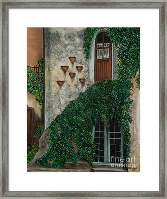 A House Of Vines Framed Print by Charlotte Blanchard