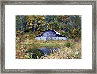 A Is For Autumn Framed Print by Benanne Stiens