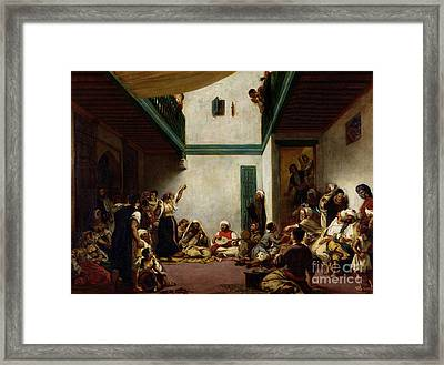 A Jewish Wedding In Morocco Framed Print by Ferdinand Victor Eugene Delacroix
