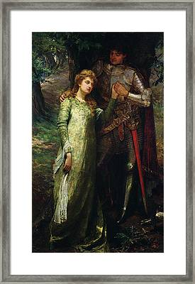 A Knight And His Lady Framed Print by William G Mackenzie