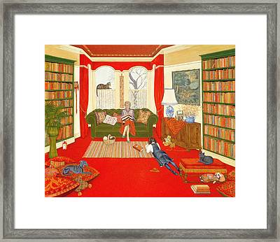A Lazy Afternoon Framed Print by Ditz