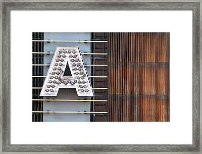 A Letter Framed Print by Dan Holm