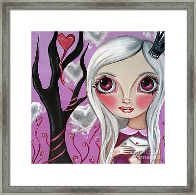 A Letter From My Valentine Framed Print by Jaz Higgins
