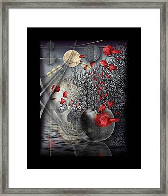 A Little Bit Of Death Between The Worlds Framed Print by Mimulux patricia no
