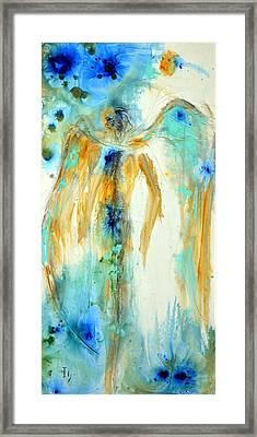A Little Blue Framed Print by Ivan Guaderrama