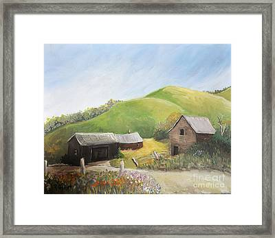 A Little Country Scene Framed Print by Reb Frost