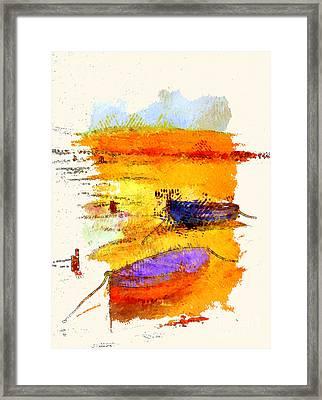 A Little Dingy Framed Print by Julie Lueders