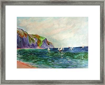 A Little Monet Framed Print by Julie Lueders