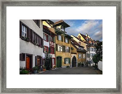 A Little Swiss Street Framed Print by Carol Japp