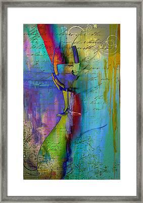 A Little Wining Framed Print by Greg Sharpe