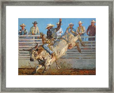 A Long 8 Seconds Framed Print by Jim Clements