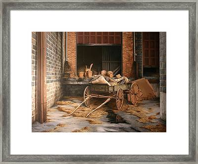 A Look At The Past Framed Print by William Albanese Sr