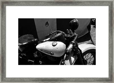 A Mans Harley Framed Print by David Lee Thompson