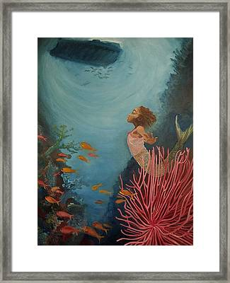 A Mermaid's Journey Framed Print by Amira Najah Whitfield