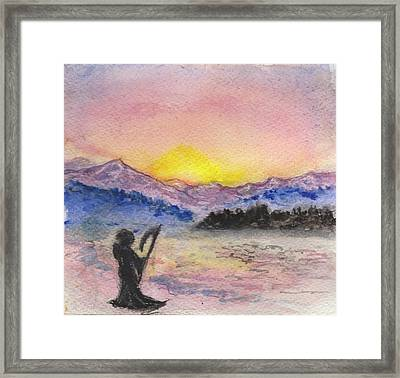 A Moment Of Tranquility Before Work Framed Print by Jennie Hallbrown