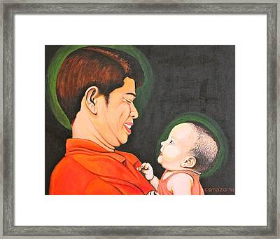 A Moment With Dad Framed Print by Cyril Maza