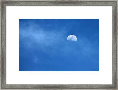 A Moon For Sapphire Framed Print by Sabrina Wheeler
