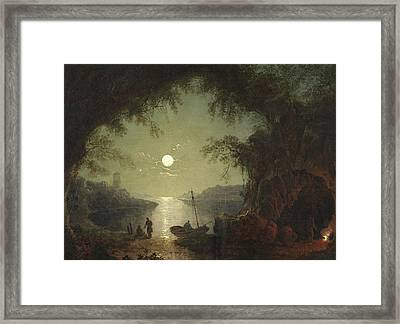 A Moonlit Cove Framed Print by Sebastian Pether