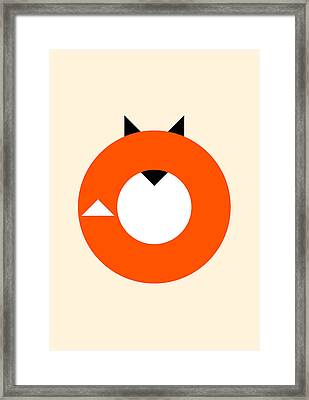 A Most Minimalist Fox Framed Print by Nicholas Ely