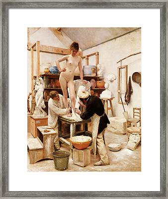 A Mould From Nature Framed Print by Edouard-Joseph Dantan