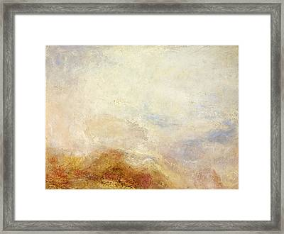 A Mountain Scene Framed Print by William Turner