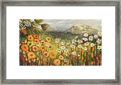 A Mountain View Framed Print by Jennifer Lommers