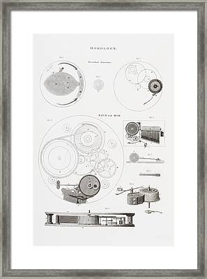 A Musical Watch By The Clockmaker Framed Print by Vintage Design Pics
