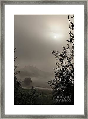 A Mysterious Foggy Morning Framed Print by Luigi Morbidelli