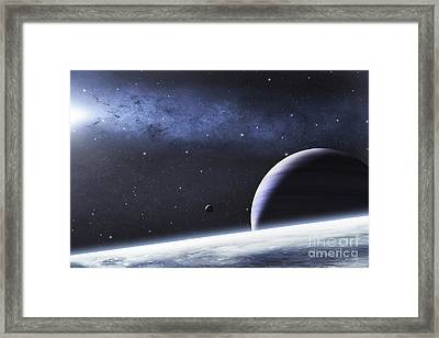 A Mysterious Light Illuminates A Small Framed Print by Justin Kelly