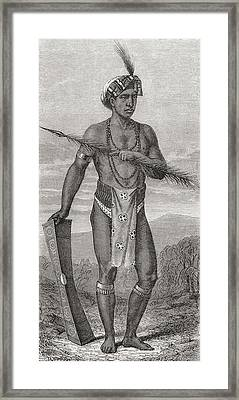 A Native Of Manado, Celebes, In The Framed Print by Vintage Design Pics