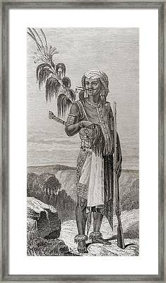 A Native Of Timor, South East Asia In Framed Print by Vintage Design Pics