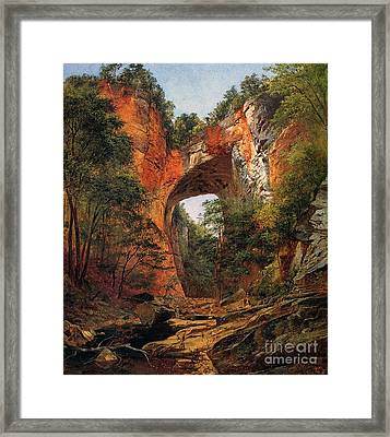 A Natural Bridge In Virginia Framed Print by David Johnson