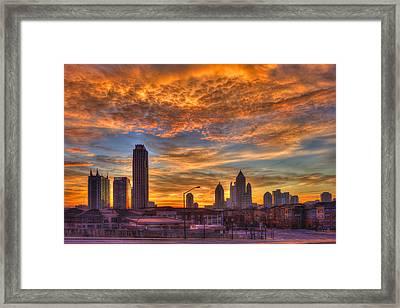 A New Day Atlantic Station Sunrise Framed Print by Reid Callaway