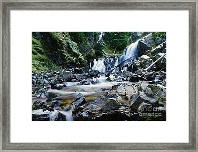 A New Way To The Waterfall  Framed Print by Jeff Swan
