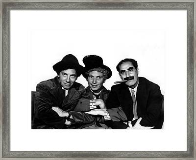 A Night At The Opera, Chico Marx, Harpo Framed Print by Everett